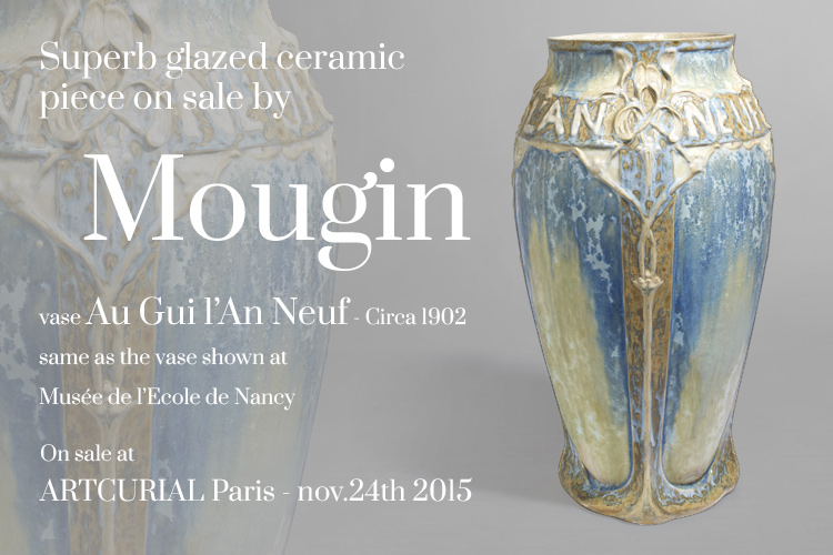New sale of a beautiful vase by Mougin - Ecole de Nancy at Artcurial Paris
