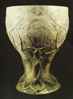 83.J Vasque Aimer, r&ecirc;ver, souffir - Ecole de Nancy<br/>Gr&egrave;s blanc &eacute;maill&eacute; - valeur : 30000&euro;