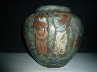 Vase femmes africaines<br/>H: 30cm - Valeur : 4500€