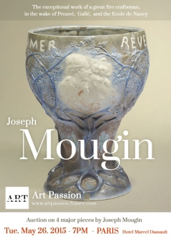 Exceptional auction on  Joseph Mougin works Paris - May 26th 2015