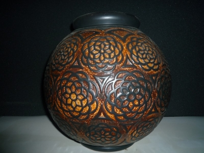 Vase boule orientaliste<br/>H: 35cm - Valeur 4000€