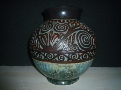 Vase décor oriental, modèle peu courant<br/>Valeur : 4000€