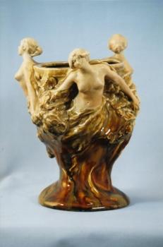 Vase Trois femmes - Albert Finot - Porcelaine émaillée - Valeur : 15000€