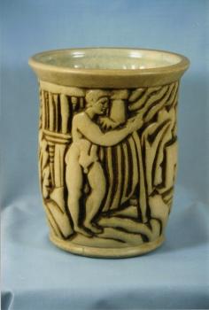 213.J Vase Les jardins antiques - A.Goor<br/>Valeur : 4500€